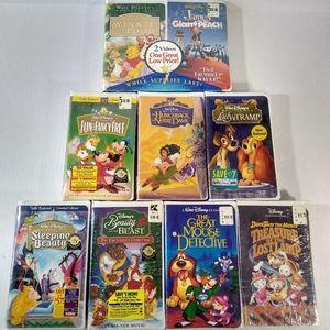 Walt Disney VHS Lot Of 9 Classics